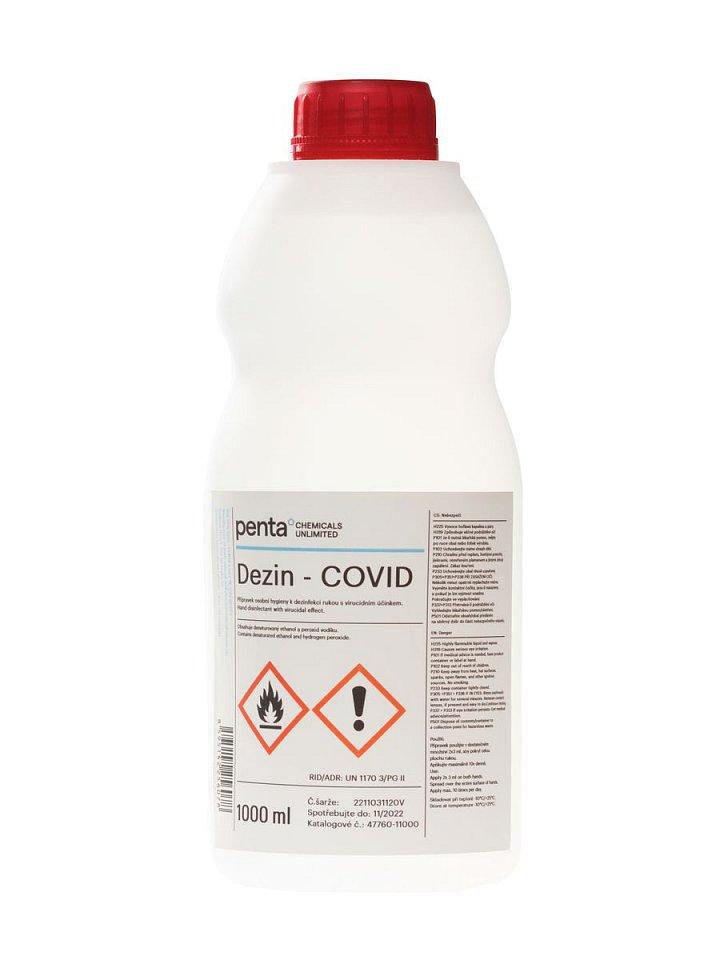 Dezin-COVID, alkoholový dezinfekční přípravek